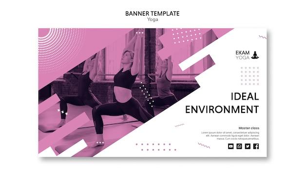 Modelo de banner com conceito de ioga Psd grátis