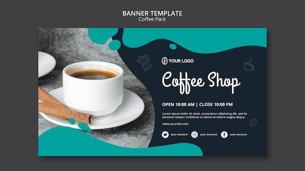 Modelo de banner com design de café Psd grátis