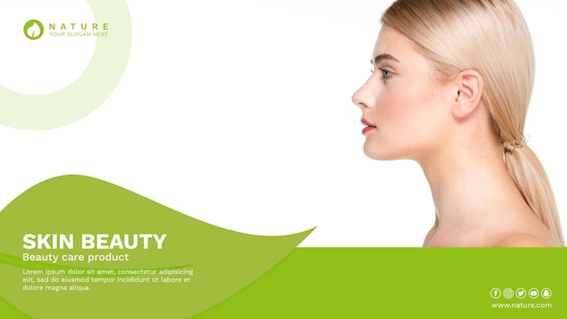 Modelo de banner da web com o conceito de beleza Psd grátis