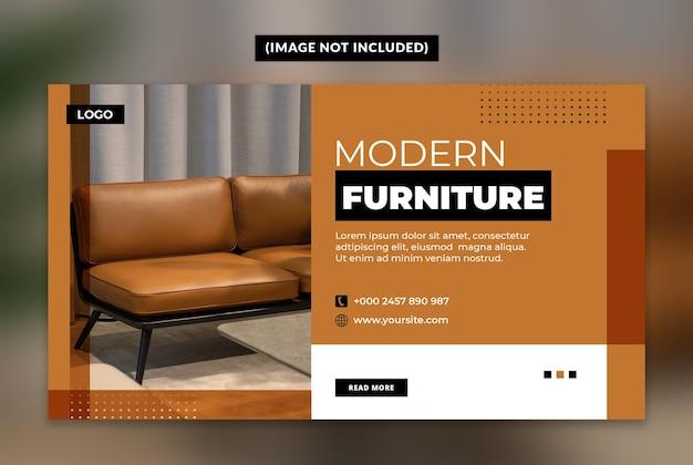 Modelo de banner da web de móveis modernos Psd Premium
