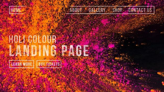 Modelo de banner da web para o festival de holi Psd grátis