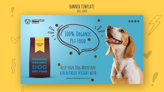 Modelo de banner de alimentos para animais orgânicos Psd grátis