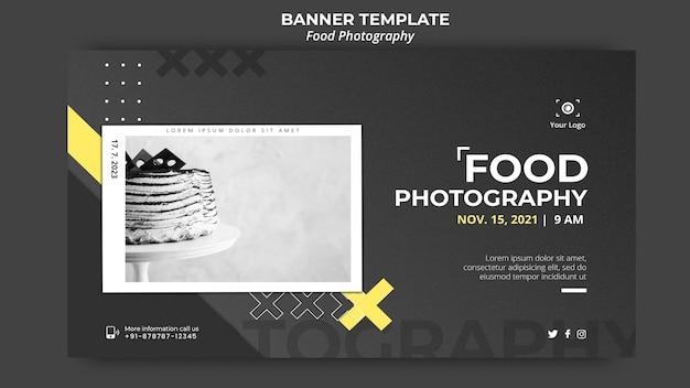 Modelo de banner de anúncio de fotografia de comida Psd grátis