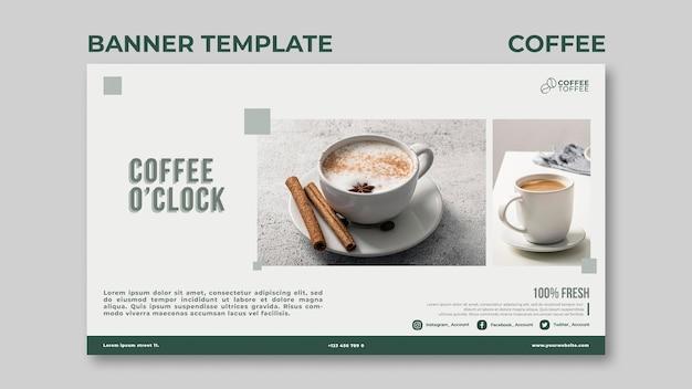 Modelo de banner de café Psd grátis