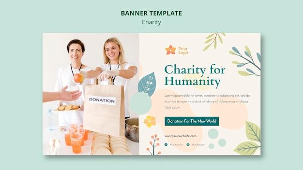 Modelo de banner de caridade Psd grátis