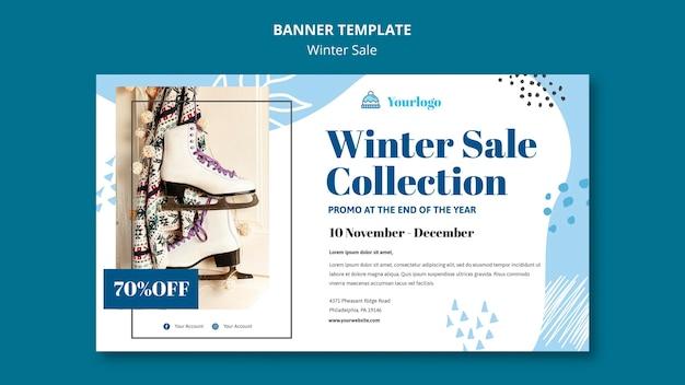 Modelo de banner de coleção de venda de inverno Psd grátis