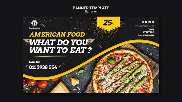 Modelo de banner de comida americana Psd grátis