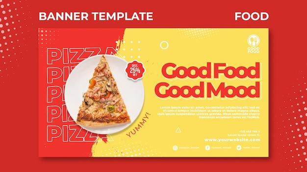 Modelo de banner de comida Psd grátis