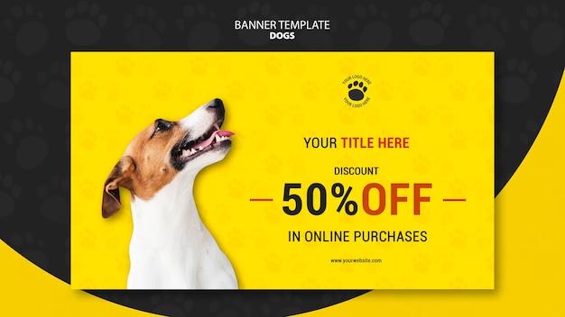 Modelo de banner de compras on-line de cachorro Psd grátis