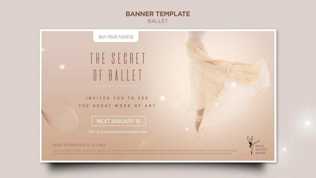 Modelo de banner de conceito de bailarina Psd grátis