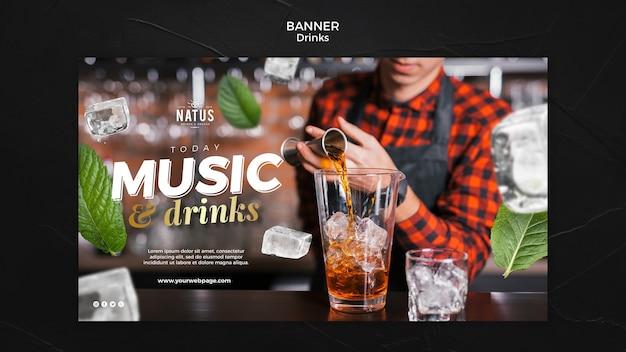 Modelo de banner de conceito de bebidas Psd grátis