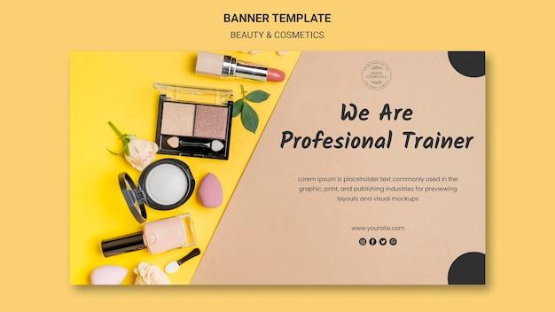 Modelo de banner de conceito de beleza e cosméticos Psd grátis