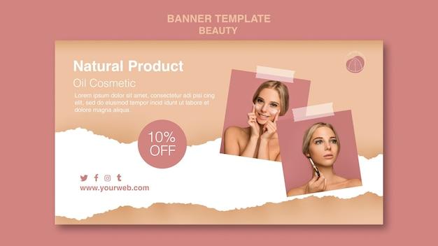Modelo de banner de conceito de beleza Psd grátis