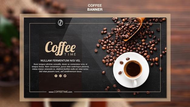 Modelo de banner de conceito de café Psd grátis