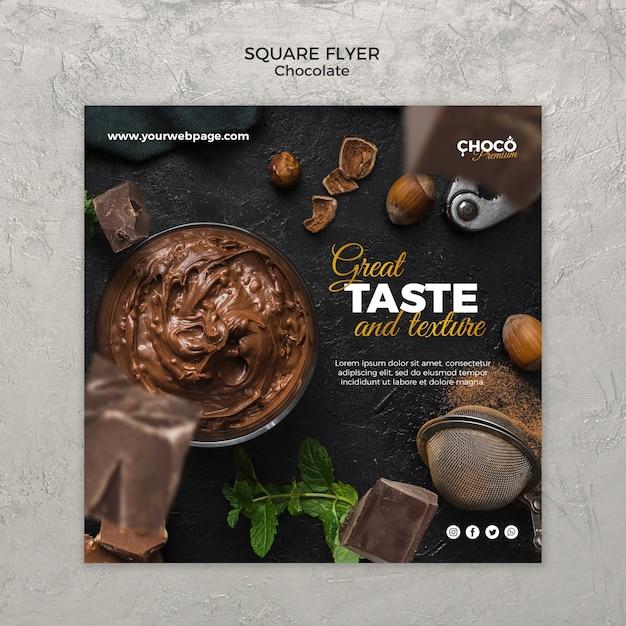 Modelo de banner de conceito de chocolate Psd grátis