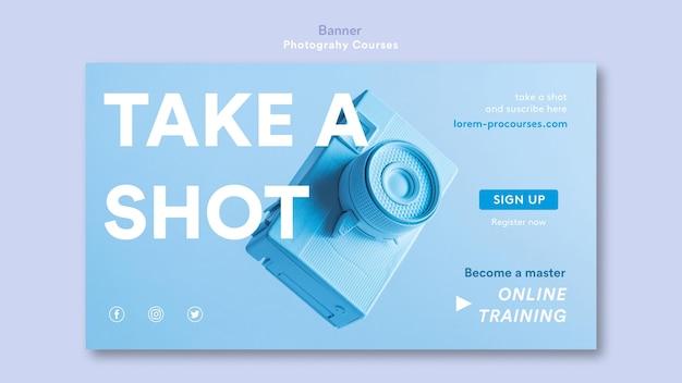 Modelo de banner de conceito de fotografia Psd grátis