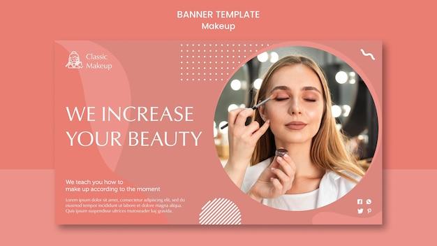 Modelo de banner de conceito de maquiagem Psd grátis
