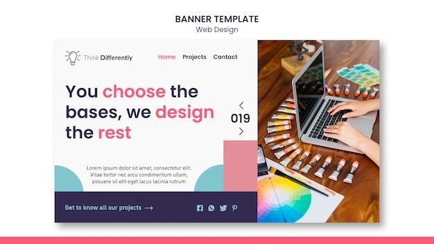 Modelo de banner de conceito de web design Psd Premium