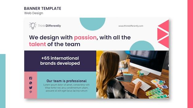 Modelo de banner de conceito de web design Psd grátis