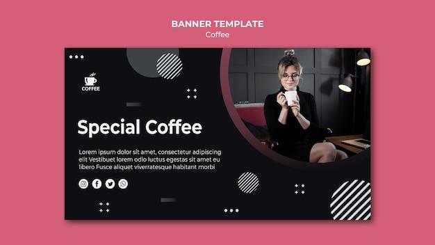 Modelo de banner de conceito especial de café Psd grátis