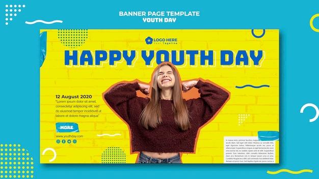Modelo de banner de evento do dia da juventude Psd grátis