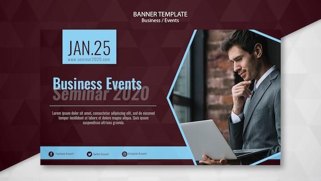 Modelo de banner de eventos de negócios Psd grátis