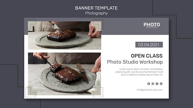 Modelo de banner de fotografia Psd Premium