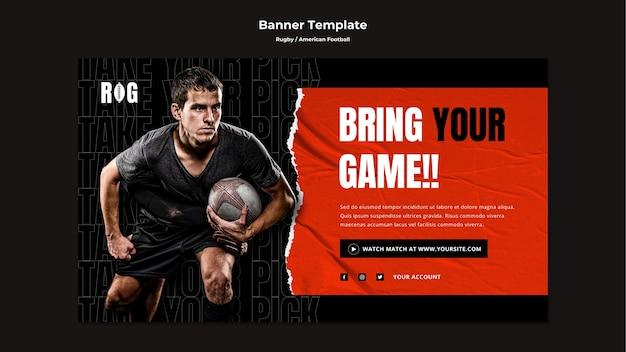 Modelo de banner de futebol americano Psd grátis