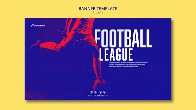 Modelo de banner de futebol Psd grátis