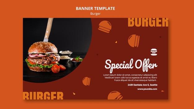 Modelo de banner de hambúrguer Psd grátis