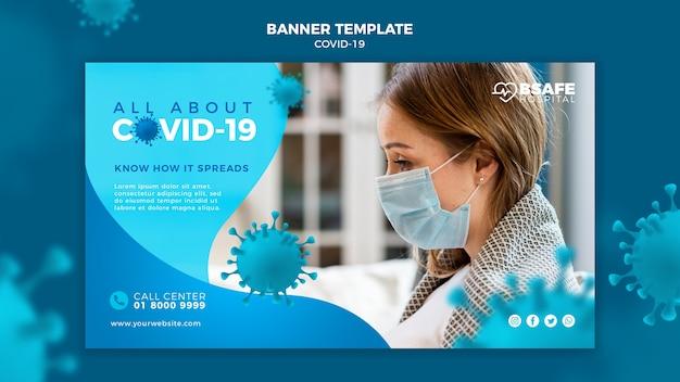 Modelo de banner de informações sobre coronavírus Psd grátis