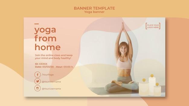 Modelo de banner de ioga Psd grátis