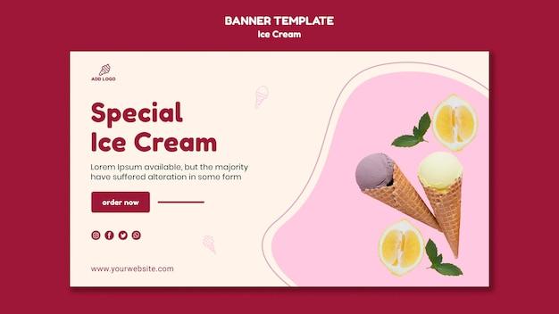Modelo de banner de loja de sorvete Psd grátis