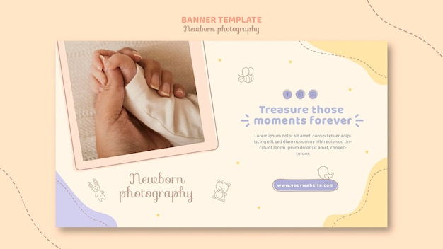 Modelo de banner de mãos de bebê e mãe Psd grátis