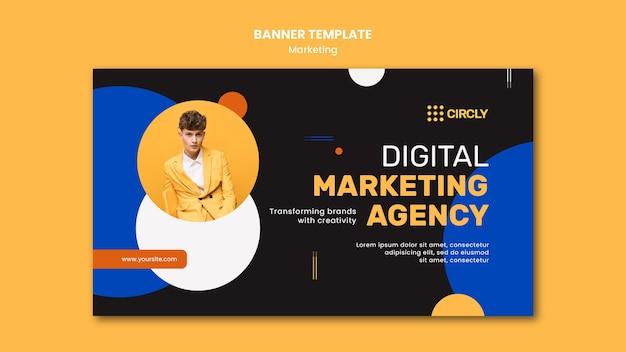 Modelo de banner de marketing digital Psd grátis