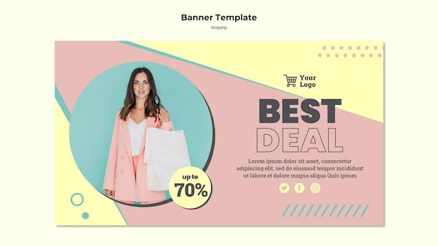 Modelo de banner de melhor oferta do shopping Psd grátis