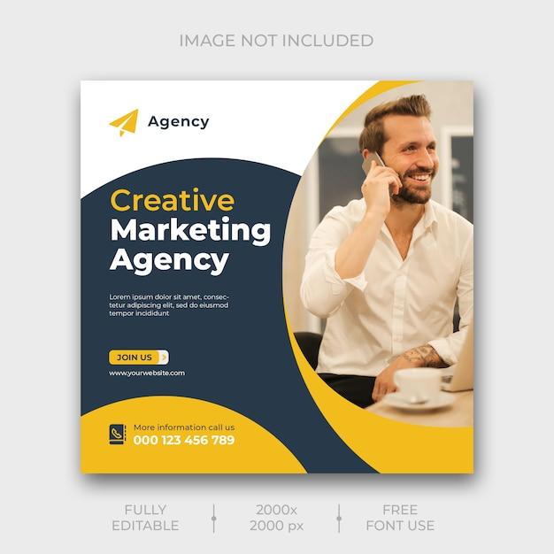 Modelo de banner de mídia social de marketing digital Psd grátis