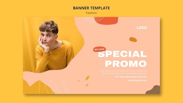 Modelo de banner de moda masculina para venda especial Psd Premium