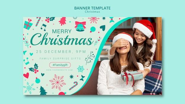 Modelo de banner de natal com imagem Psd grátis