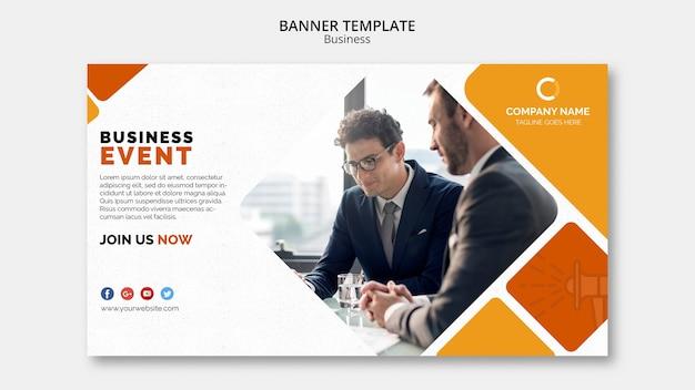 Modelo de banner de negócios Psd grátis