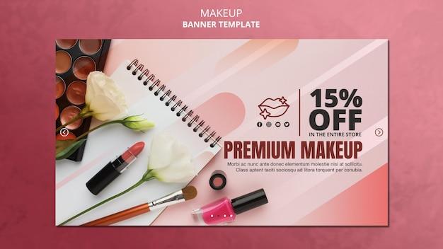 Modelo de banner de oferta especial de maquiagem Psd grátis