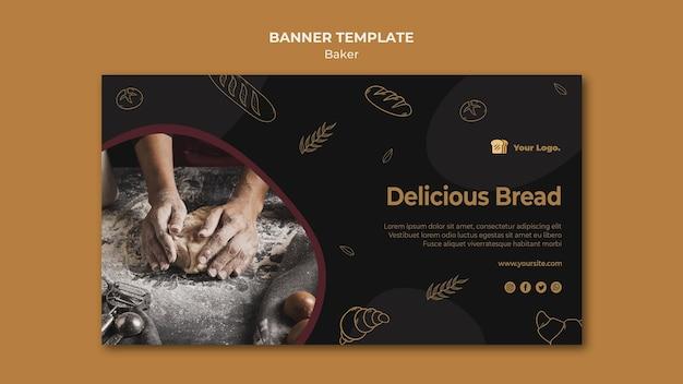 Modelo de banner de pão delicioso Psd grátis