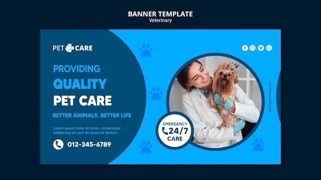 Modelo de banner de qualidade para animais de estimação Psd grátis