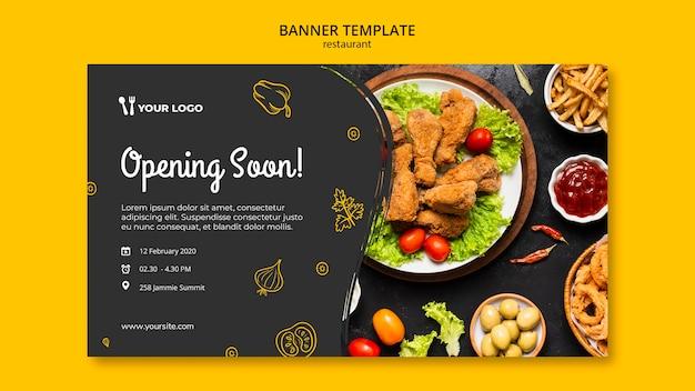 Modelo de banner de restaurante Psd Premium