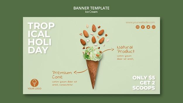 Modelo de banner de sorveteria Psd grátis