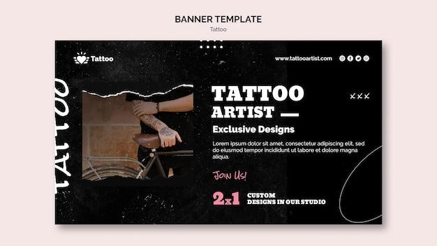 Modelo de banner de tatuador Psd grátis