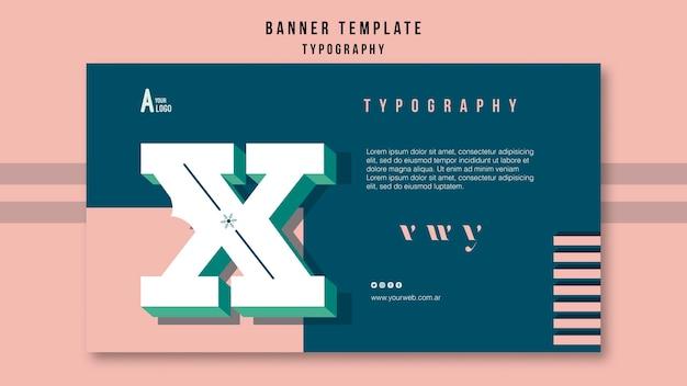 Modelo de banner de tipografia Psd grátis