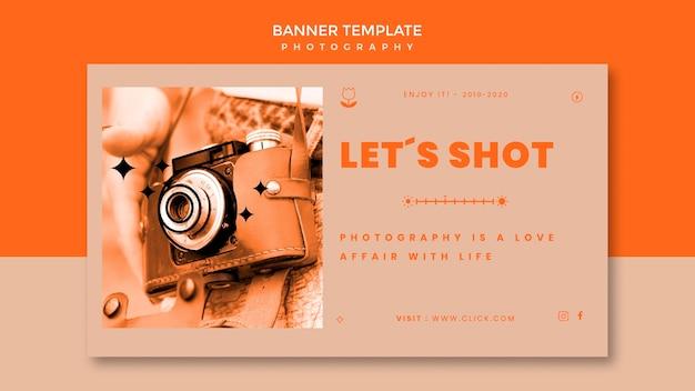 Modelo de banner de tiro de fotografia Psd grátis