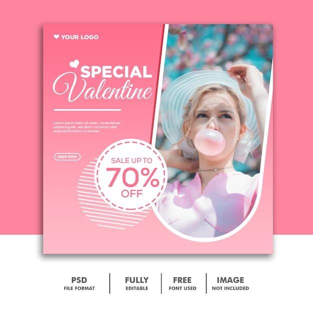 Modelo de banner de venda especial dos namorados Psd Premium