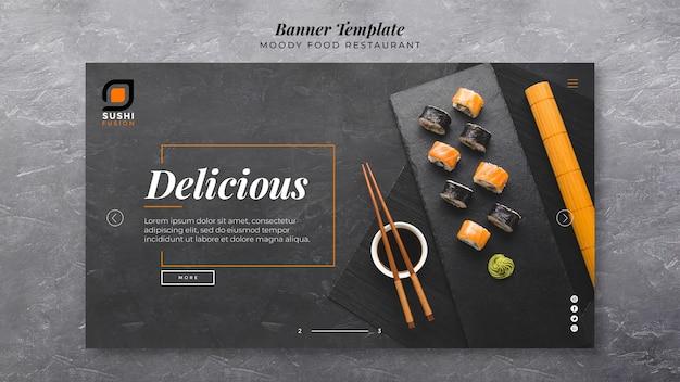 Modelo de banner deliciosa comida temperamental Psd grátis